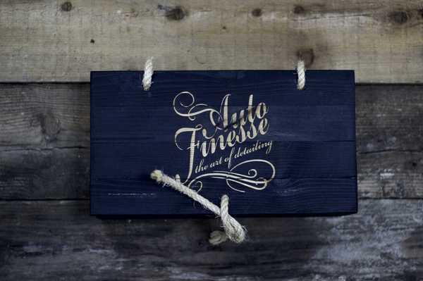 Подарочный деревянный ящик Auto Finesse, цв. черный
