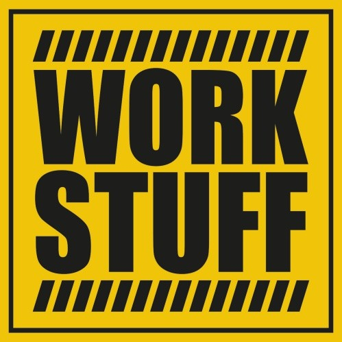 Наклейка Work Stuff, 8х8см