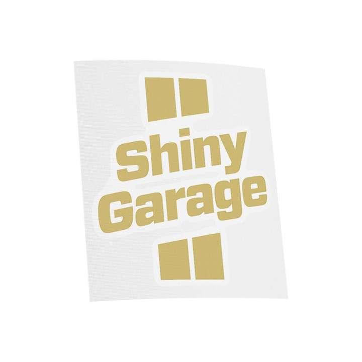 Наклейка Shiny Garage, вырезанная, цв. золотой, 7x8 см