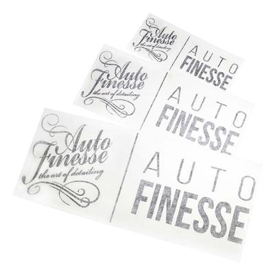 Наклейка Auto Finesse двойная, вырезанная, цв. черный, 12,5х29,5 см