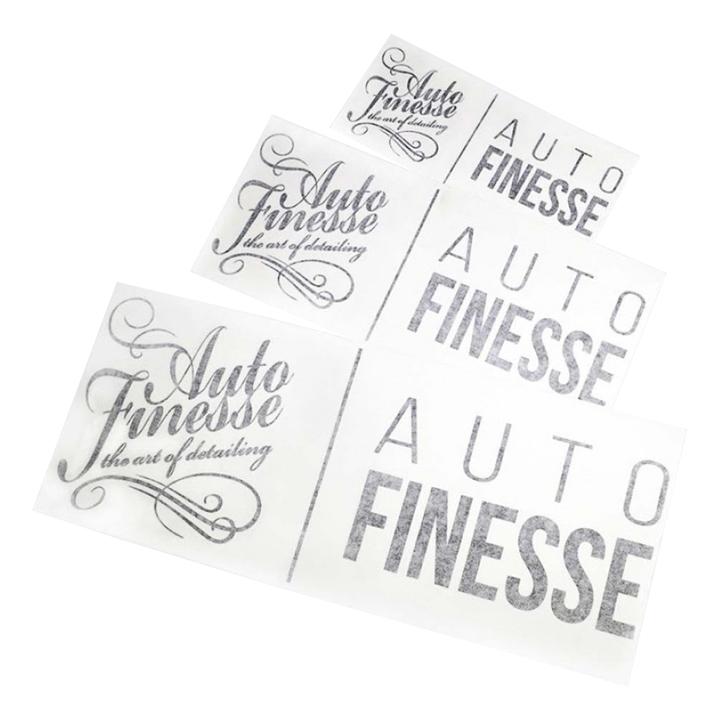 Наклейка Auto Finesse двойная, вырезанная, черная, 12,5х29,5 см