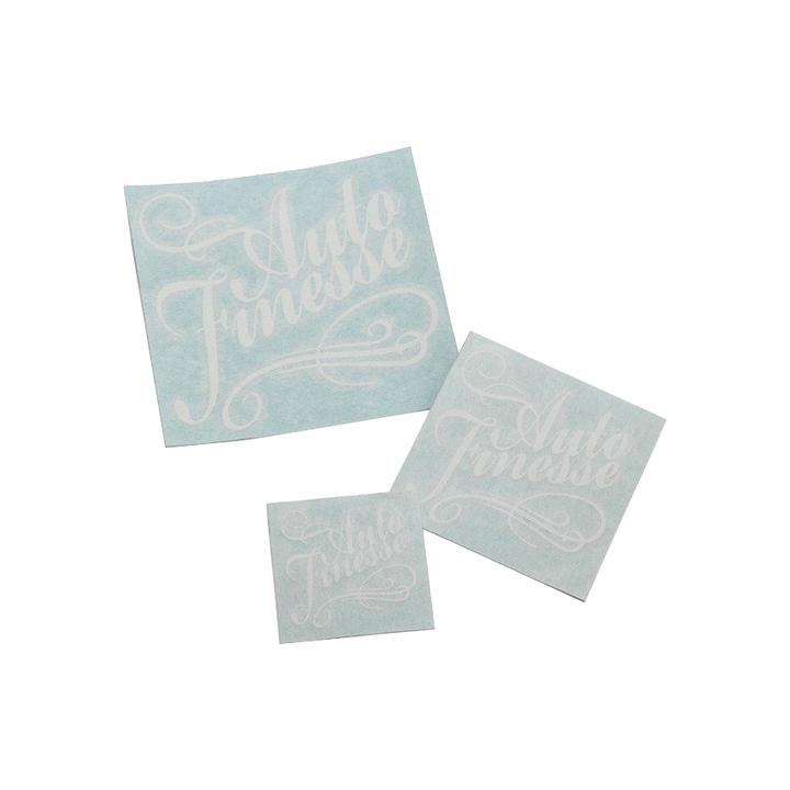 Наклейка Auto Finesse, вырезанная, цв. белый, 8х8,5 см